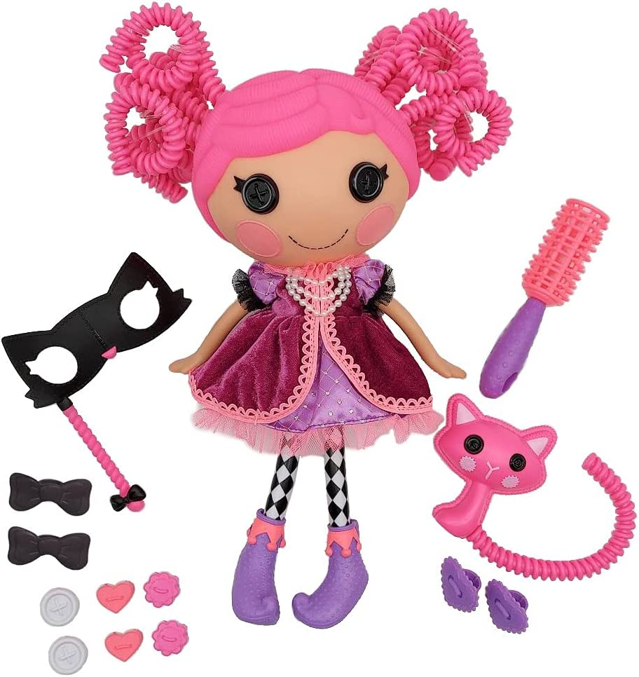 Lalaloopsy Silly Hair Doll - Confetti Carnivale with Pet Cat, 13