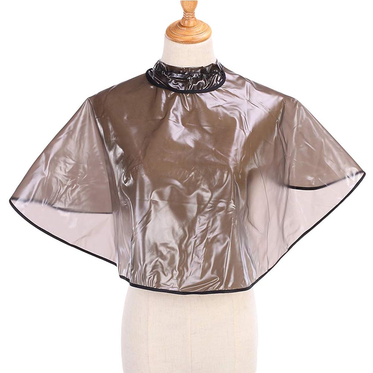 セラフ根絶する洋服Healifty 1ピース防水ヘアスタイリングケープサロン理容岬アジャスタブルヘアカットショールショール理髪岬
