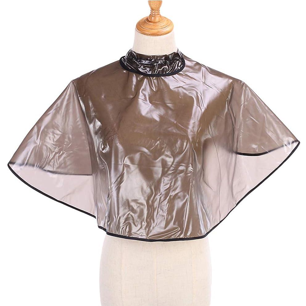 洗剤反発する作動するHealifty 1ピース防水ヘアスタイリングケープサロン理容岬アジャスタブルヘアカットショールショール理髪岬