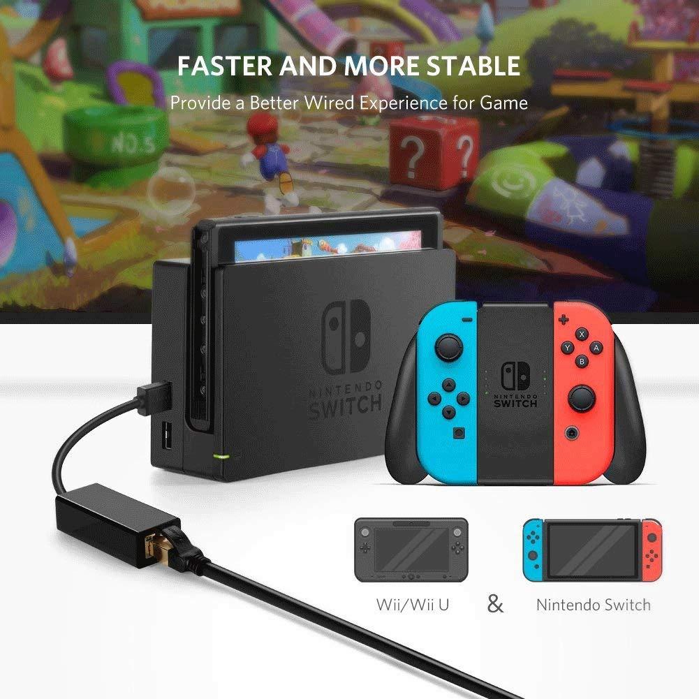 XLHJFDI Adaptador cableado para Nintendo Switch, Wii, Wii U ...