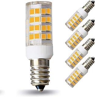 LAMPAOUS E14 5 W LED Bombilla de maíz blanco cálido 3000 K Sustitución al halógeno 45 W no regulable, 4 unidades