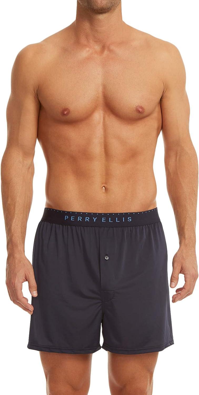 Perry Ellis Men's Luxe Solid Boxer Shorts