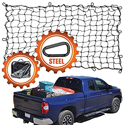 """4'x6' Super Duty Bungee Cargo Net for Truck Bed Stretches to 8'x12' 