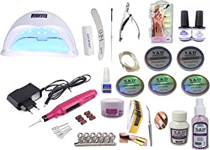 Kit Unha Gel Acrigel Cabine Uv 48w Lixa Kit Gel Acrygel 2.0