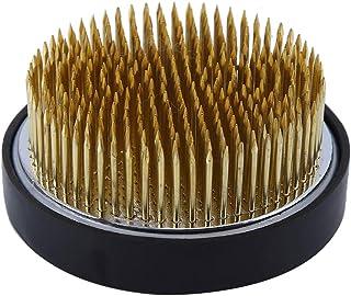 Duokon Grenouille de Fleurs Ikebana Kenzan Ronde avec Joint en Caoutchouc Art Fixe arrangeant des Outils Outil d'alignemen...