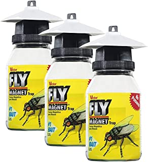 Safer Brand Victor M380 Fly Magnet Reusable Trap with Bait (Pack of 3)