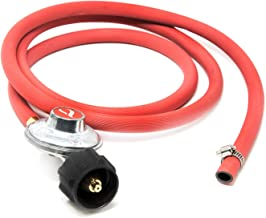Gas One 2102 New Improved 6 ft Low Pressure Propane Regulator and Hose Connection Kit for LP/LPG Most LP/LPG Gas Grill, Heater and Fire Pit Table