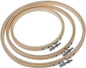 3 piezas 3 tamaños aros de bordado de bambú círculo de punto de cruz anillo de aro 5/6.7/7.9 pulgadas para bordar y punto de Cruz