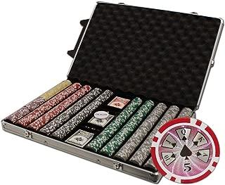 Brybelly 1000-Count Hi-Roller 14gm Poker Chip Set in Rolling Aluminum Case
