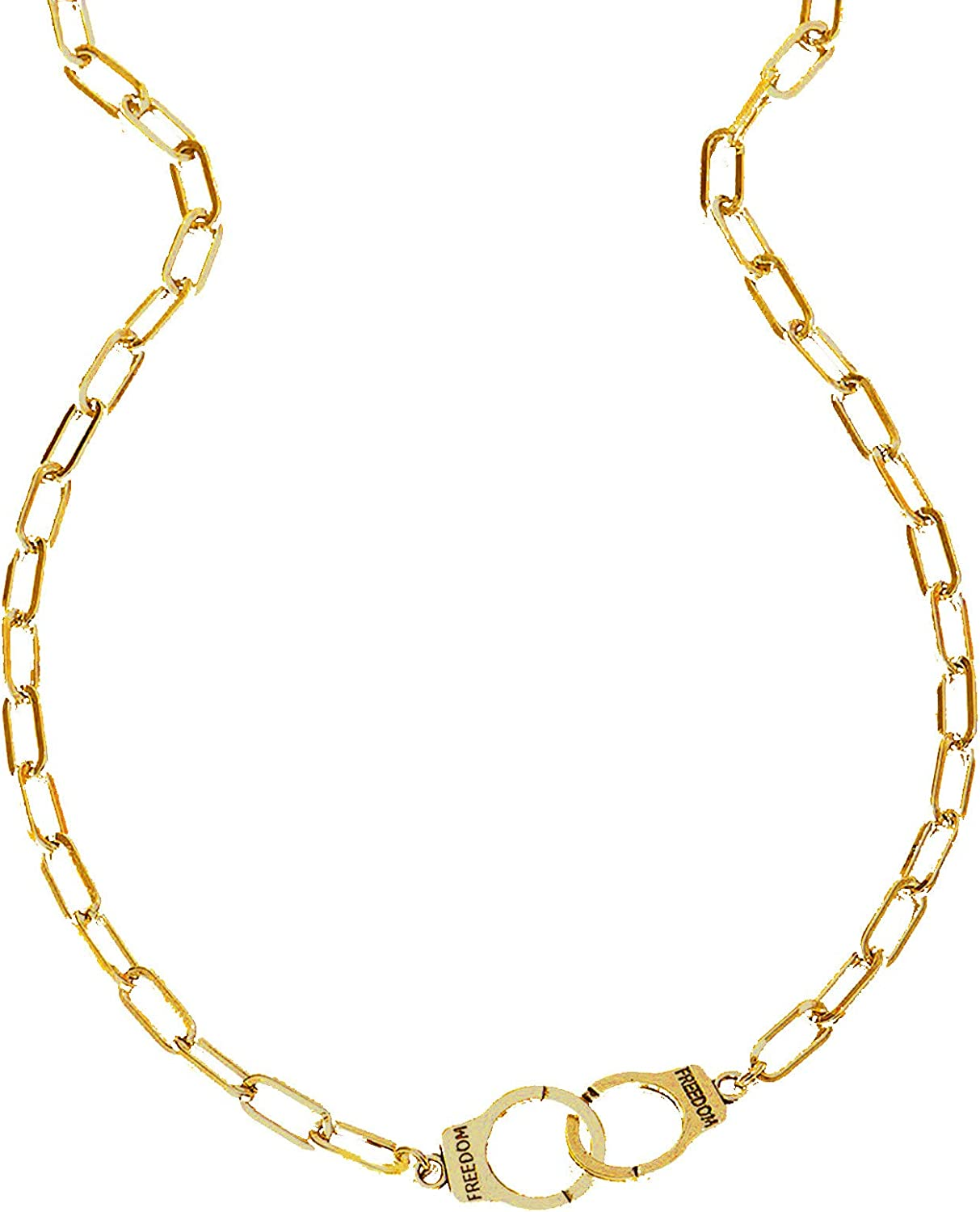 Fashion Creative Spring Summer Necklace Women Jewerly Necklaces Handcuffs O Chain Unique Design Stainless Steel Infinity Interlocking Circle Collar Statement Necklace for Women