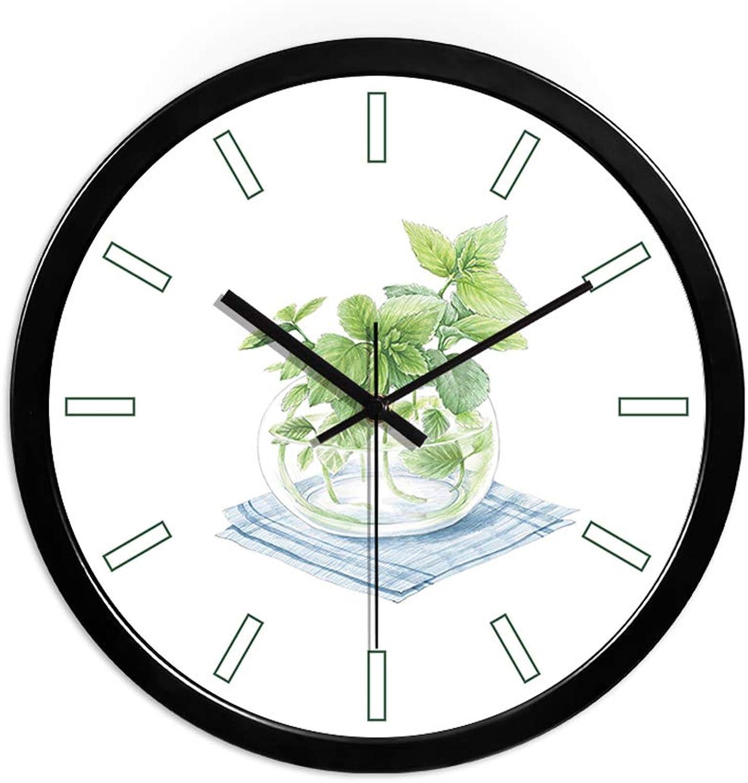 distribución global ZWD Reloj Reloj Reloj de Parojo del Centro de bao, Estudio del Dormitorio Papelería Tienda Reloj de Parojo de la casa del Flor Reloj de Parojo metálico de la Forma rojoonda 30-35CM Decorar  Precio al por mayor y calidad confiable.
