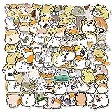 WEIGUANG Cute Cartoon Animal Little Hamster Pegatinas para álbum de Recortes, papelería, portátil, teléfono, Guitarra, Maleta, Pegatina para Chica, calcomanía 100 unids/Set