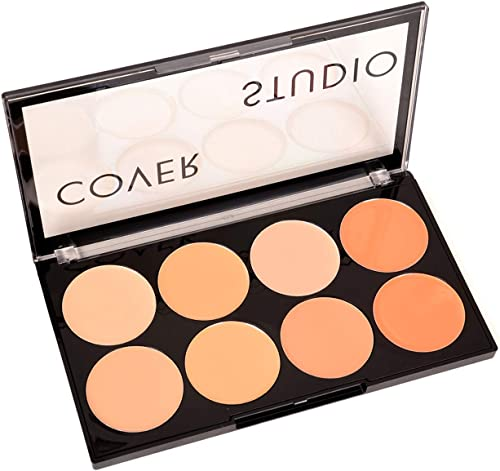 Swiss beauty Oil and Wax Free Cover Studio Ultra Base Concealer For Face Makeup Palette