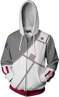 Men Naruto Kakashi Long Sleeve Full-Zip Bomber Jacket Hooded Varsity Jacket