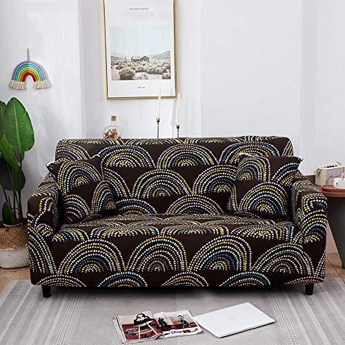 Fundas de sofá,Funda elástica para sofá Totalmente Envolvente para Sala de Estar,Protector de Muebles para sillón-G 2 plazas 145-185 cm y 3 plazas 190-230cm 2PCS