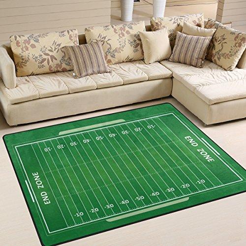 Use7 American Football Field Area Teppich für Wohnzimmer, Schlafzimmer, 203 cm x 147,3 cm
