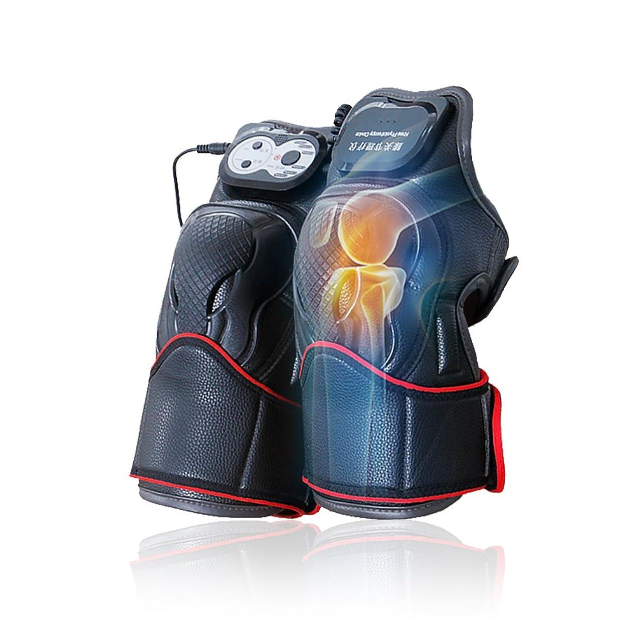 暖かく設計バブルマッサージ器 マッサージ ひざ マッサージャー ヒーター マッサージ機 振動 レッグマッサージャー 通気性 フットマッサージャー 赤外線療法 膝サポーター ストレス解消(二枚入り)
