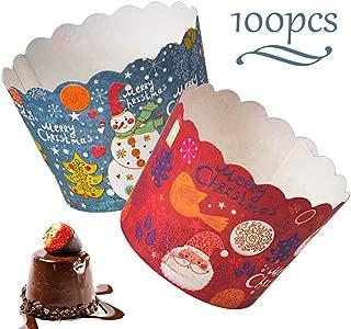 Blau//Pink WENTS Mini Muffin F/örmchen 100 St/ück Backen Tassen Mini Papier Kuchen Cupcake Pudding F/ällen Halter f/ür Muffin Cups Liner f/ür Halloween Hochzeit Geburtstag Party Dekoration