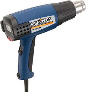 Steinel HL 2010 E Heat Gun, 1500 W power tool, ergonomically designed Heat Gun with LCD Display, 3 Stage Switch airflow and continuously variable temperature up to 1150°F, microprocessor controlled Heat Gun, 34850