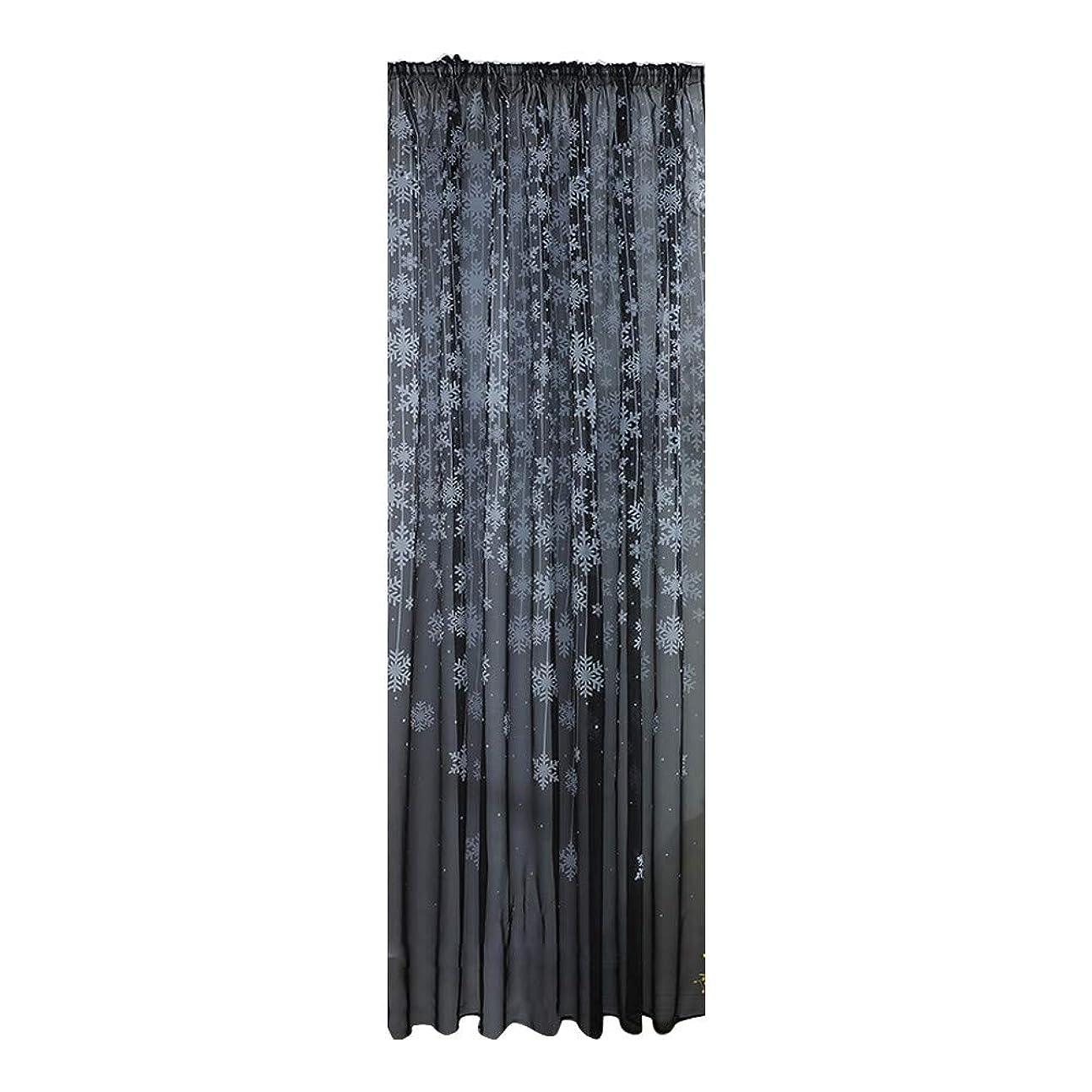 軽蔑対立土砂降りFarantasyカーテン1PCS クリスマススノーフレークカーテンチュールウィンドウトリートメントボイルドレープバランスウェアカーテン