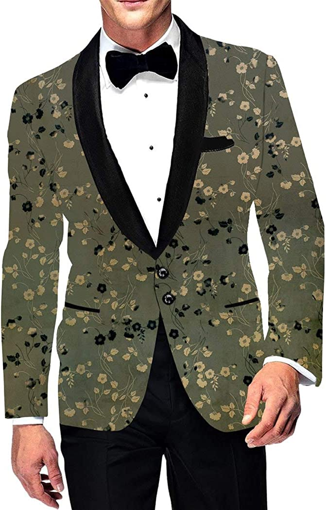 INMONARCH Mens Slim fit Casual Moss Green Blazer Sport Jacket Coat Two Button Polyester Suede SB19381