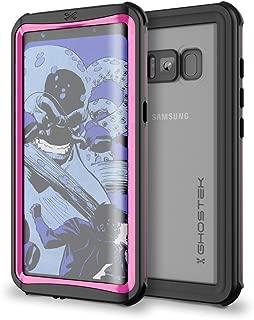 Ghostek Galaxy S8 Waterproof Case, Nautical Series for Samsung Galaxy S8   Slim Underwater Full Body Protection Shockproof Dirtproof Snow-Proof Dust-Proof Protective Adventure Swimming Diving (Pink)