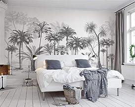 MUMUWU Custom Wallpaper Black And White Big Tree Tropical Rainforest Coconut Tree Modern TV Sofa Background Wall (Color : ...