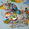 Lúdilo- Banderea, Banderas del Mundo, Mesa para niños, Viaje, Juego Cartas Agilidad Mental, Educativo, Juguete en Familia (80894) #2