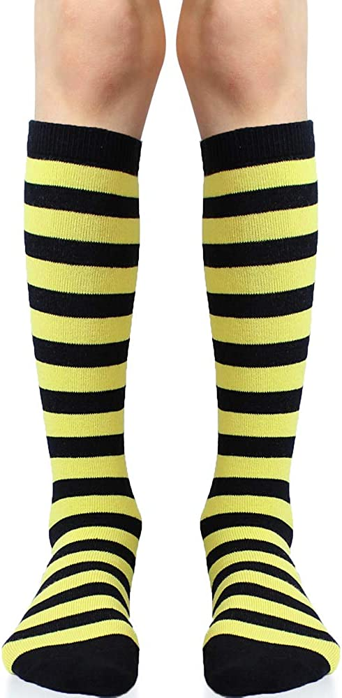 juDanzy Knee High Tall Socks with Grips for Babies, Toddlers, and Children (2 Pair)