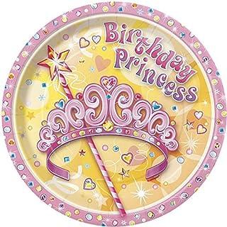 "Pretty Princess 7"" Plates 8 Pcs"