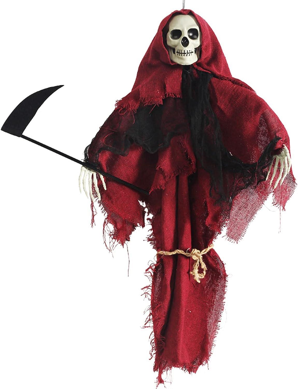 WELIsky Halloween Hanging Grim Reaper Max 68% OFF Ghost low-pricing Decorations Death Sk
