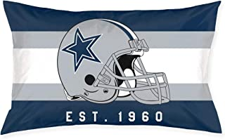 Marrytiny Custom Rectangular Pillowcase Colorful Dallas Cowboys American Football Team Bedding Pillow Covers Pillow Cases for Sofa Bedroom Bedding Car Home Decorative - 20x30 Inches