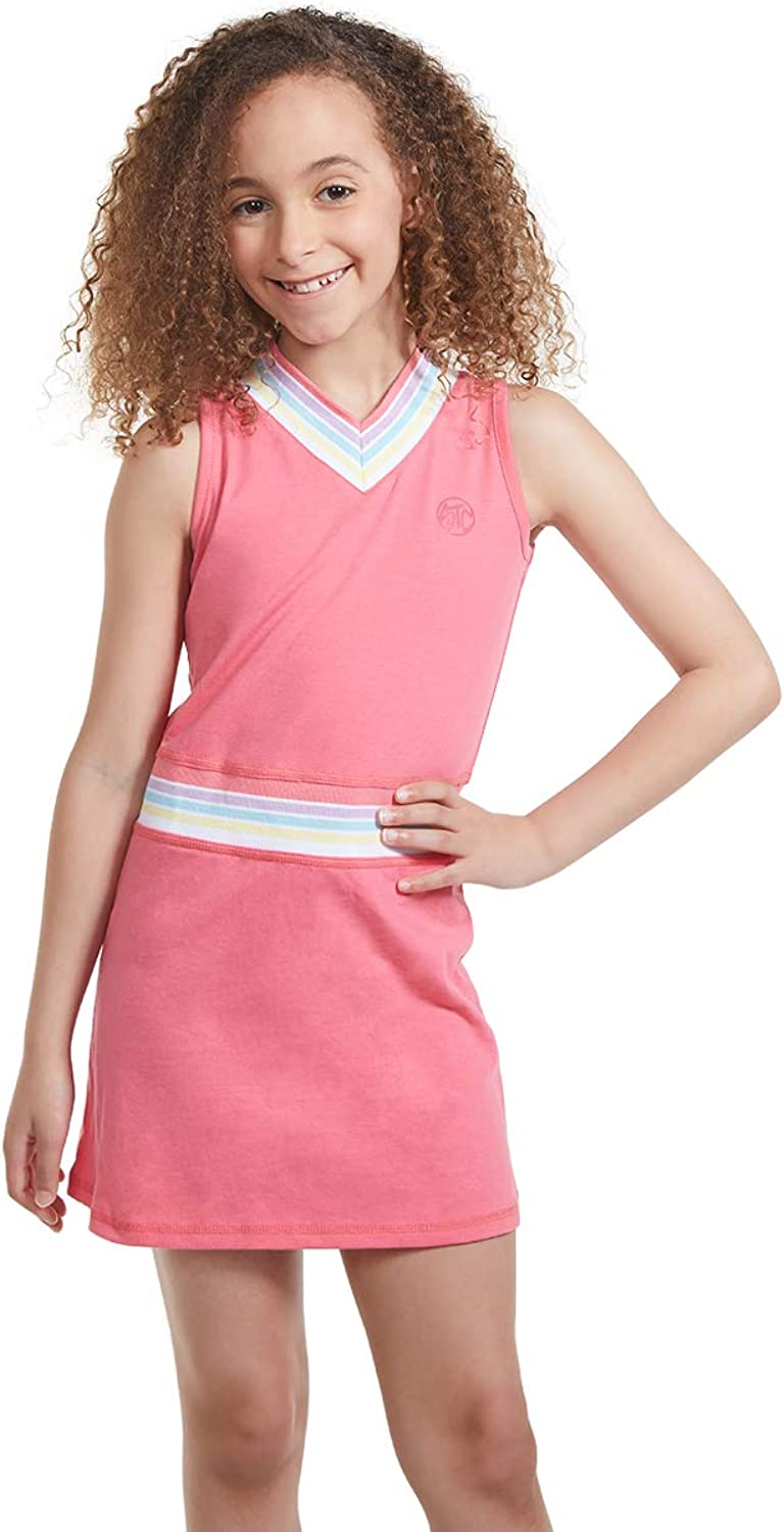 Girl Limited time trial price Tennis Outfit – Sleeveless Sh Dress Neck V with San Jose Mall