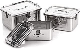 Stainless Steel Rectangular Kimchi Food Storage Container (3Set)