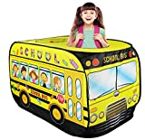 Liberty Imports Kids Pop Up Play Tent - Foldable Indoor and Outdoor Playhouse for Toddlers, Boys and Girls (School Bus)