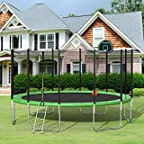 Merax 16FT Trampoline with Enclosure Net, Basketball Hoop and Ladder,...