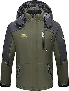 FASKUNOIE Men's Winter Jackets Windproof Fleece Lining Warm Coat Ski Snowboard Moutain Jackets with Zipper Pockets