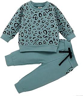 0-4 Años,SO-buts Recién Nacido Bebés Niñas Niños Camiseta Con Estampado De Leopardo Sudadera Abrigo Tops Pantalones Trajes...