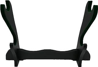 Glac Store® Expositor de pie de 2 plazas terciopelo verde oscuro ante de mesa para Katana japonesa tipo Ultimo Samurai Miy...