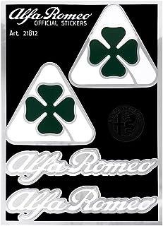 2x Alfa Romeo Quadrifoglio Hoja De Trébol ala insignias 90 mm