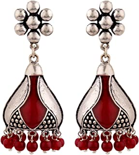 Voylla Jhumki Earrings for Women (Silver)(8907617887784)