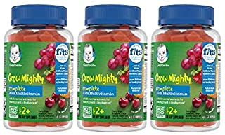 Gerber Grow Mighty Complete Kids Gummy Multivitamin: Vitamins A, C, D E & B6 for Immune Health, Non-GMO, Gl...