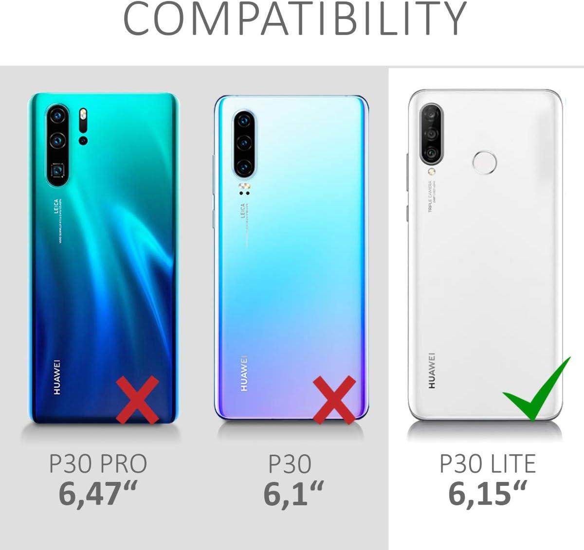 kwmobile Coque Compatible avec Huawei P30 Lite Housse de t/él/éphone Bleu oc/éan Coque
