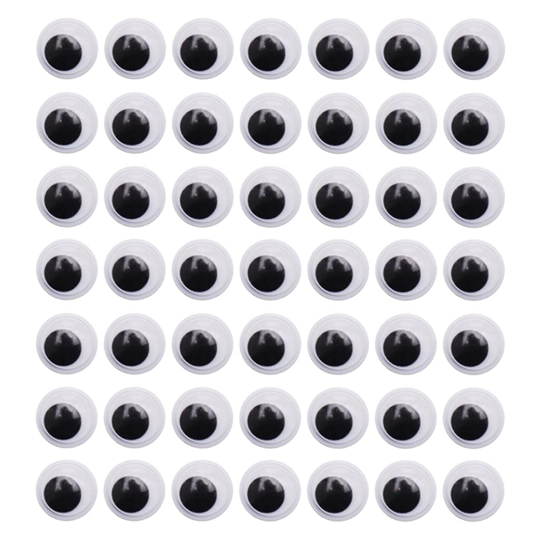 DECORA 1000 Pieces 18mm Round Wiggle Toy Eye Plastic Googly Eyes with Self-Adhesive for Crafts Making