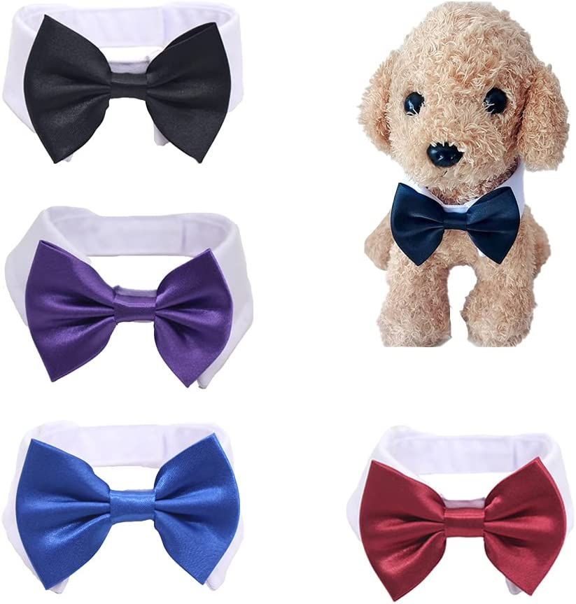 MISS PET for Little Puppy 4 Bowtie Miami Mall Collar Pet New York Mall Formal Hand Pieces