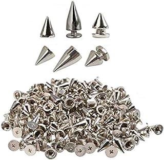 Anyasen Rivet cône Clous customisation Cuir Rivets Clous Cône Style Punk pour Décoration Sacs Bricolage Bracelets en Cuir ...