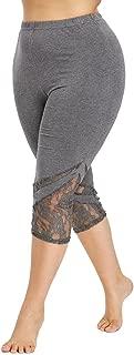 iTLOTL Women Yoga Pants Sport Leggings mid Short Long Trousers Fashion Lace Plus Size Skinny