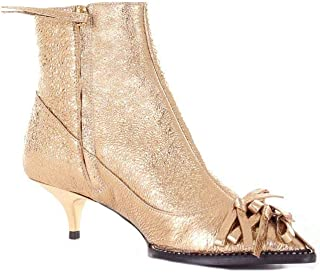 N°21 Women's N218I821201450GOLD Gold Fabric Ankle Boots