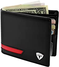 Kanuoc Tesla Wallet for Men- with 8 Slots and 2 ID Cards Window Bifold Stylish Wallet for Tesla Model S Model X Model 3