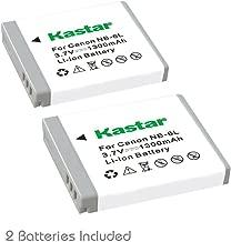 Kastar NB-6L Battery (2-Pack) for Canon PowerShot D10, D20, ELPH 500 HS, S90, S95, S120, SD770, SD980, SD1200, SD1300, SD3500, SD4000, SX170, SX240, SX260, SX270, SX280, SX500, SX510, SX600, SX701 HS